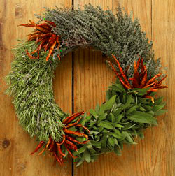 organic herb wreath