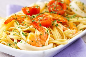 Mediterranean Shrimp and Parsley Pasta
